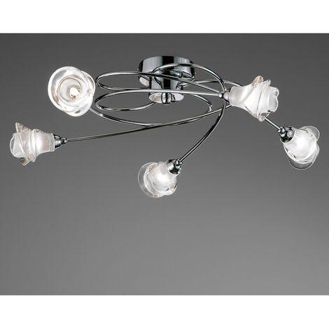 Lámpara de techo X5 LIS CROMO CRISTALRECORD 001-2023-5-016