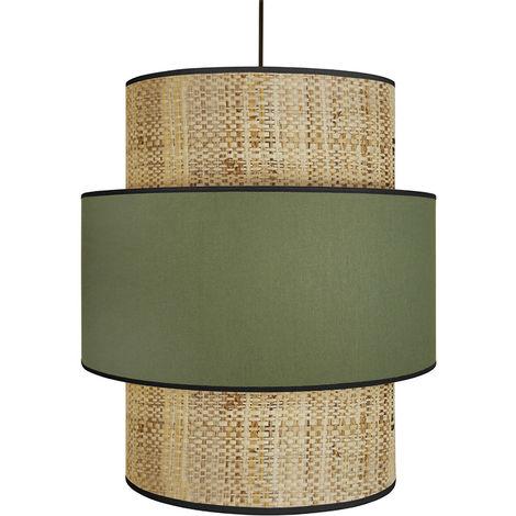 Lámpara de techo yute y tejido kaki D40 cm CHILL