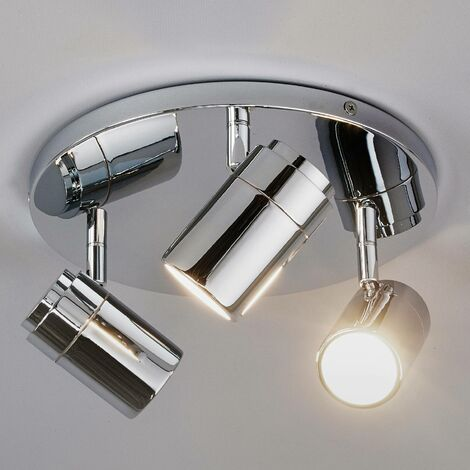 Lámpara de techoDejan con 3focos, cromada