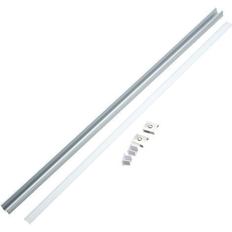 Lámpara de tira de cubierta de soporte de canal de aluminio estilo U de 30 / 50cm debajo del gabinete