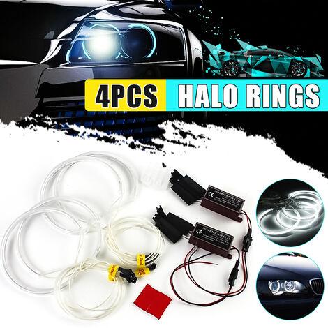 Lámpara de tubo led de coche con anillo de ojo de ángel para BMW E36 E38 E39 E46 M3 6500K