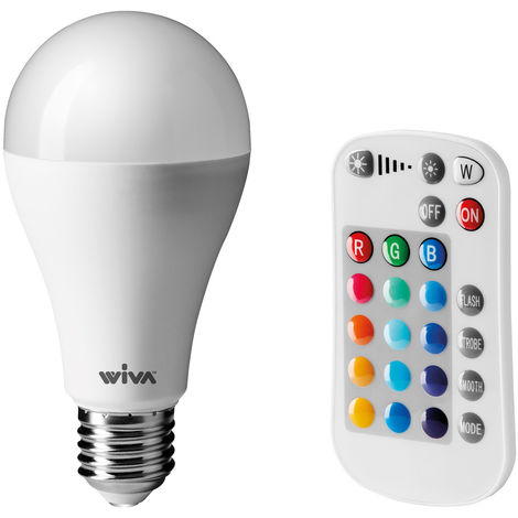 Lámpara de Wiva LED RGB Multicolor E27 10W gota 12100096