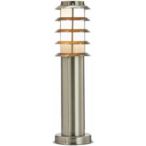 Lámpara de zócalo de acero inoxidable Selina