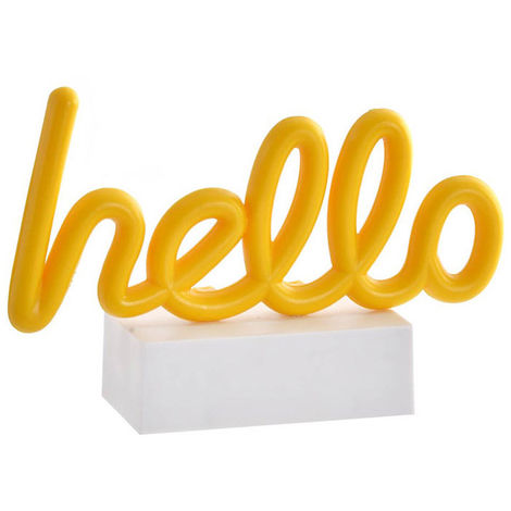 Lámpara Decoración Luminosa, Love/Hello LED. Lámparas Originales LED 19,5X6X12,5 cm B