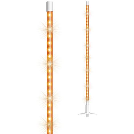 Lampara decoracion tubo LED 134cm 60 LEDs color naranja con soporte 220-240V