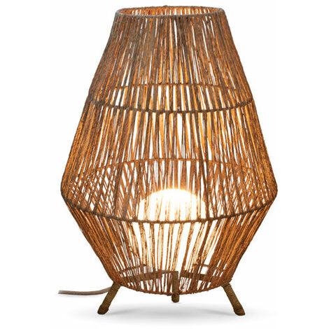 Lámpara decorativa 70 MOOVERE cable yute bombilla con mando