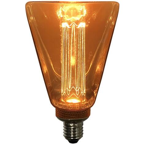 Lámpara decorativa Led diamante ámbar E27 4W 1800°K 200Lm (F-Bright 2601987)