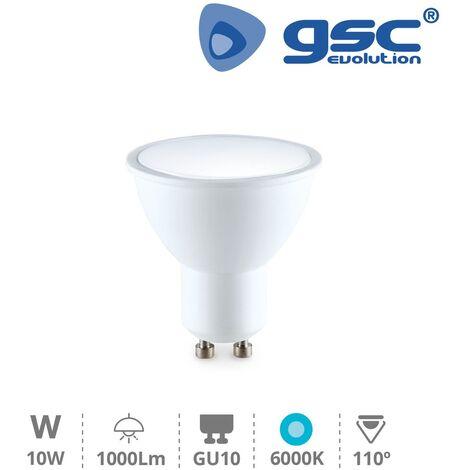 Lámpara dicroica 10W GU10 6000K