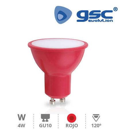 Lámpara Dicroica 4W GU10 Rojo 230V