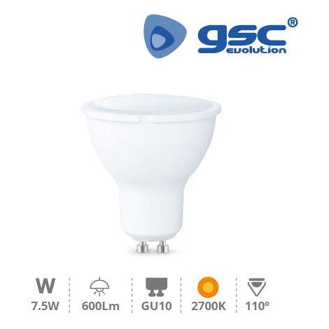 Lámpara dicroica 7,5W GU10 3000K