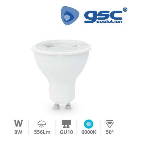 Lámpara Dicroica LED 50º 8W GU10 230V 6000K