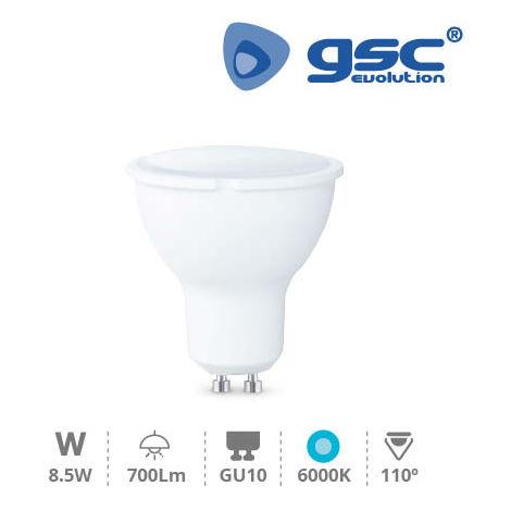 Lampara dicroica LED 8.5W GU10 6000K