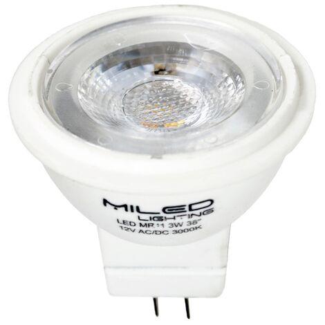 Lampara dicroica LED MR11 GU5.3 12V 3W 6000K 35mm Fría 6000K - Fría 6000K