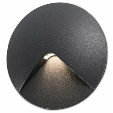 Lampara empotrable Jardin Faro Barcelona UVE LED 70397 negro