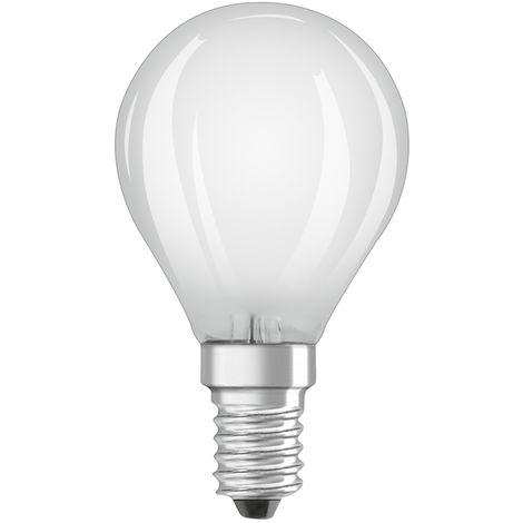 Lámpara esferica filamento Led mate E14 4W 2700°K 470Lm (Osram 4058075288089)