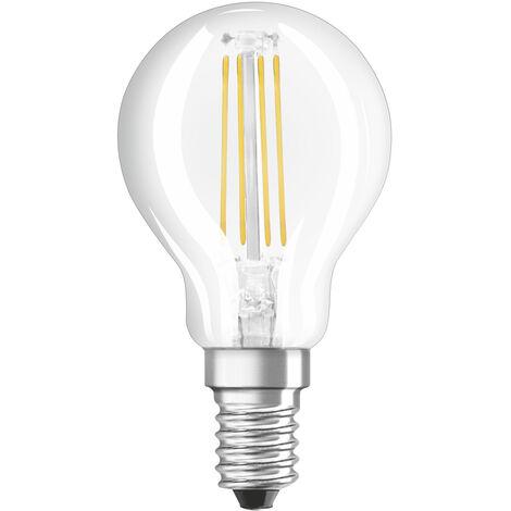 Lámpara esférica filamento Led regulable clara E14 5W 470Lm 4000K (Osram 4058075111776) (Blíster)