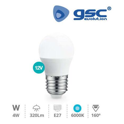Lámpara Esférica LED 4W E27 6000K 12V