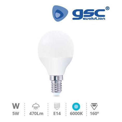 Lámpara Esférica LED 5W E14 6000K