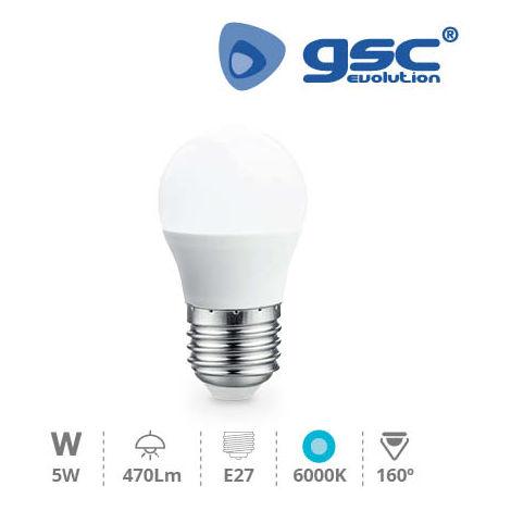 Lámpara Esférica LED 5W E27 6000K