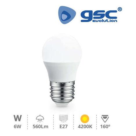 Lámpara Esférica LED 6W E27 4200K