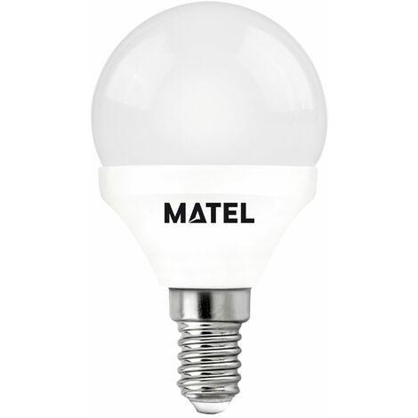 Lampara Esferica Led Al + Pc Matel E14 7W Luz Calida