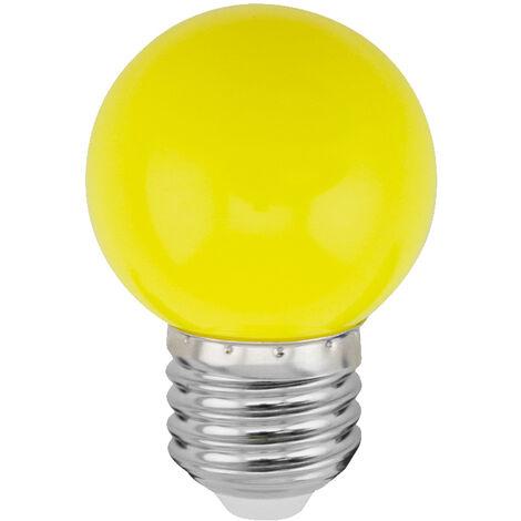 Lámpara esférica Led amarilla E27 1W (Spectrum WOJ11798)