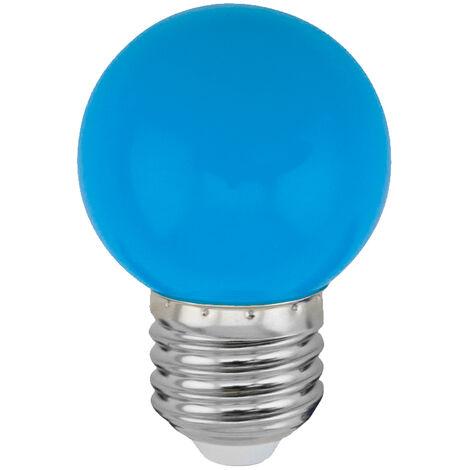 Lámpara esférica Led azul E27 1W (Spectrum WOJ11797)