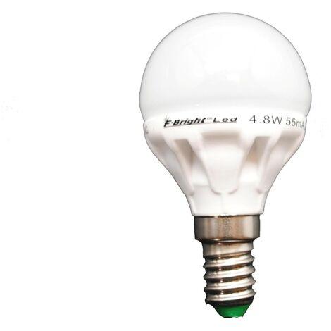Lámpara esférica Led cerámica E14 5,5W 3000°K 380Lm (F-Bright 2601240)