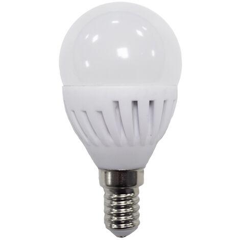 Lámpara esférica Led cerámica E14 9W 5000°K 900Lm (ALG 62433)