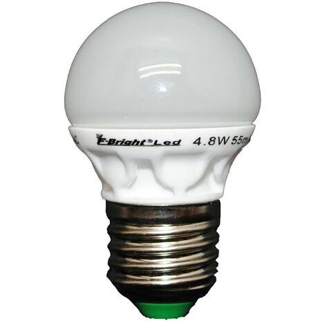 Lámpara esférica Led cerámica E27 5,5W 3000°K 380Lm (F-Bright 2601241)