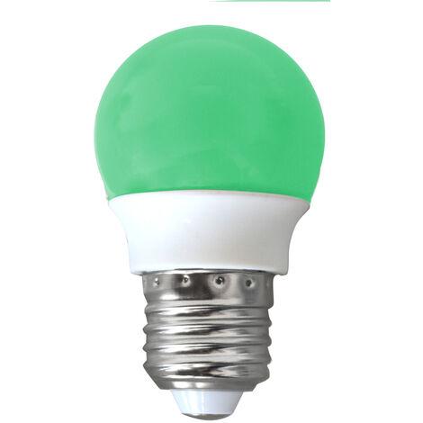 Lámpara esférica Led colores E27 2W verde 120° (GSC 2002376)
