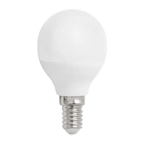 Lámpara esférica Led E14 4W 2700°K 340Lm 160° 45x79mm. (Spectrum WOJ13030)