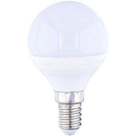 Lámpara esférica Led E14 4W 3000°K 320Lm 45x79mm. GSC (2001553)