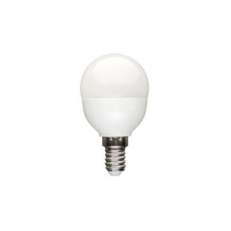 Lámpara esférica Led E14 6W 6500°K 500Lm 160° 45x80mm. (Spectrum WOJ13023)