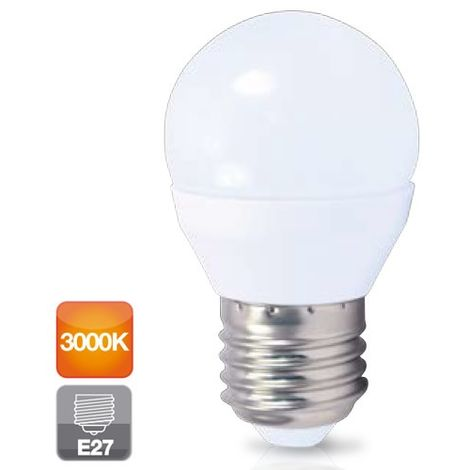 Lámpara esférica Led E27 4W 3000°K 320Lm 45x79mm. GSC (2001554)