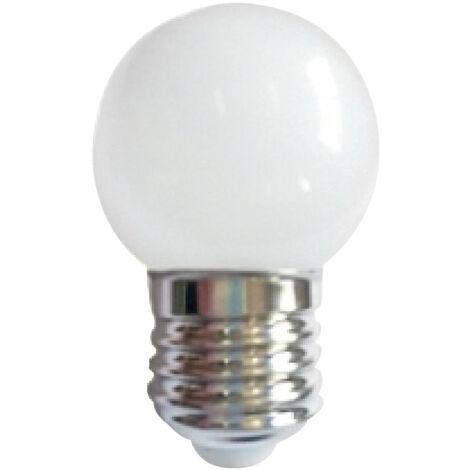 Lámpara esférica Led especial guirnaldas de exterior blanca IP44 E27 0,5W 6000°K (F-Bright 2601496-BL)