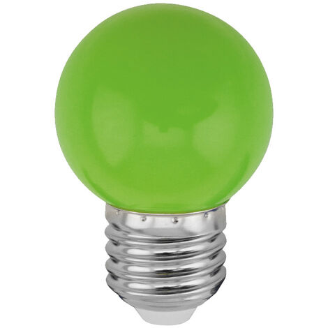 Lámpara esférica Led verde E27 1W (Spectrum WOJ11796)