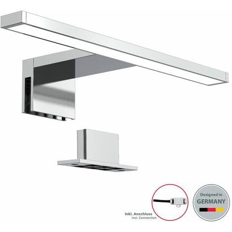 Lámpara espejo de baño LED IP44 5W 230V 30x10,3x3,6cm I Blanco frío 4000k 650lm I pinza + armario I Luz de tocador I Aplique iluminacuadros