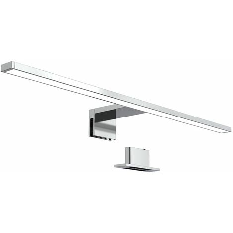 Lámpara espejo de baño LED IP44 8W 230V I Blanco frío 4000k 780lm I pinza + armario I Luz de tocador I Aplique iluminacuadros