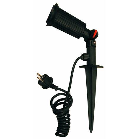 Lámpara estaca color negro para jardín