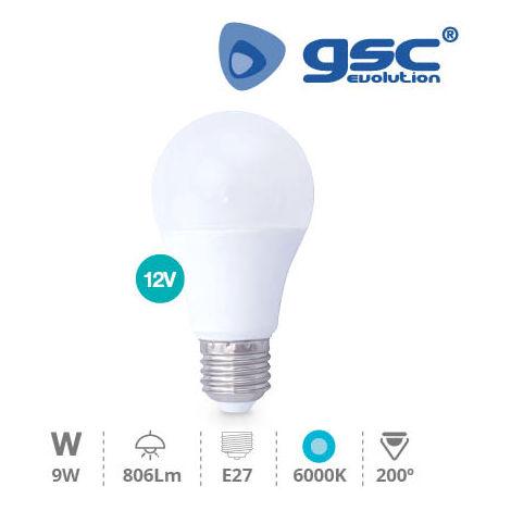 Lámpara estándar 9W E27 6000K 12V