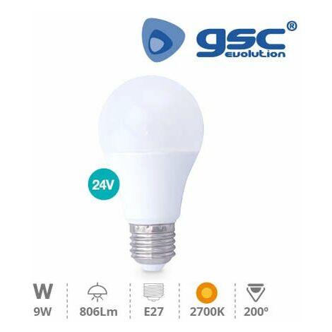 Lampara estandar LED 10W E27 3000K 24V