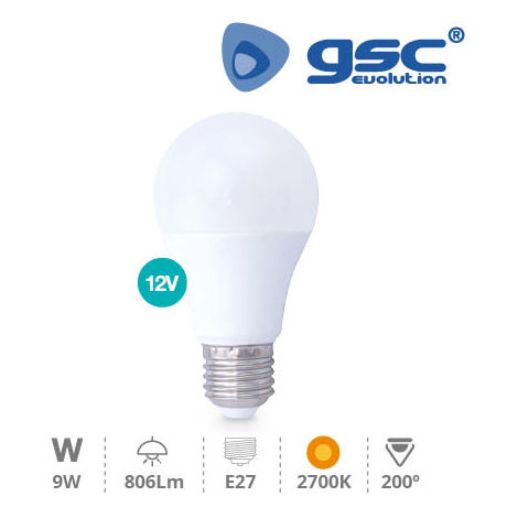 Lámpara Estandar LED 11W 270º E27 3000K 12V