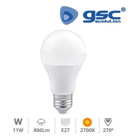 Lámpara Estandar LED 11W 270º E27 3000K