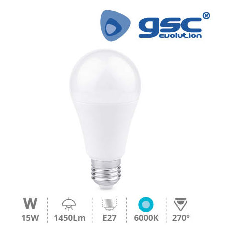 Lámpara Estandar LED 15W E27 6000K