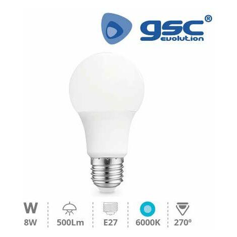 Lámpara Estandar LED 8W 270º E27 6000K