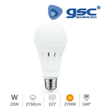 Lampara Estandar LED A70 22W E27 3000K