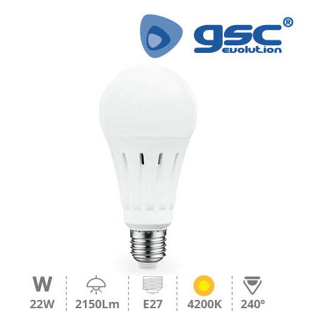 Lampara Estandar LED A70 22W E27 4200K
