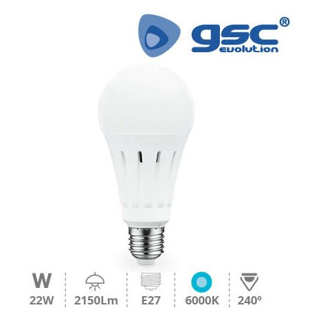 Lampara Estandar LED A70 22W E27 6000K