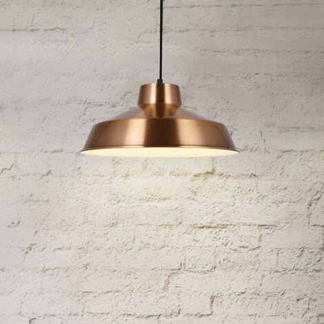 Lámpara estilo vintage colgante - E27 - cobre / blanco - Lámpara de techo moderna